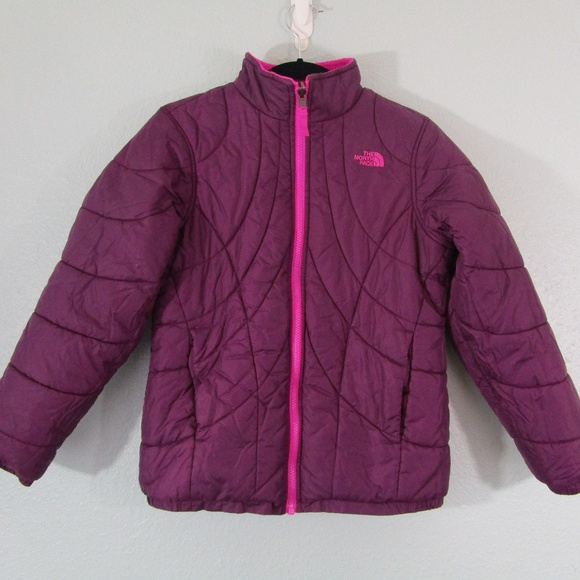 6437c23ac The North Face Pink/Purple Reversible Jacket - 14